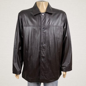 Michael's Hand Tailored Leather Button Jacket
